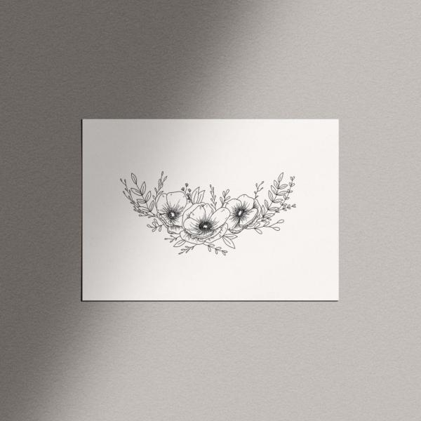 Carte illustration florale