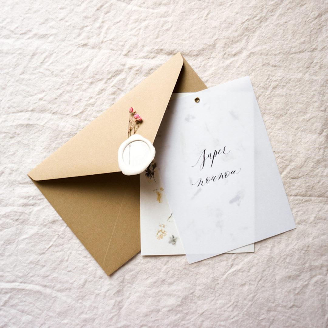 carte-artisanale-super-nounou-enveloppe-cachet-cire
