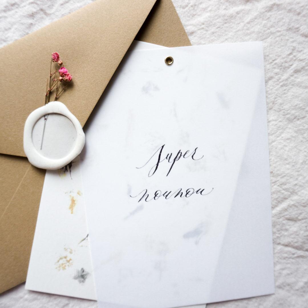 carte-artisanale-super-nounou-enveloppe-cachet-cire-details