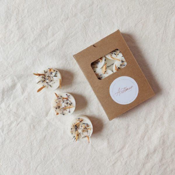 Mini bougies fleuries «Artémis»