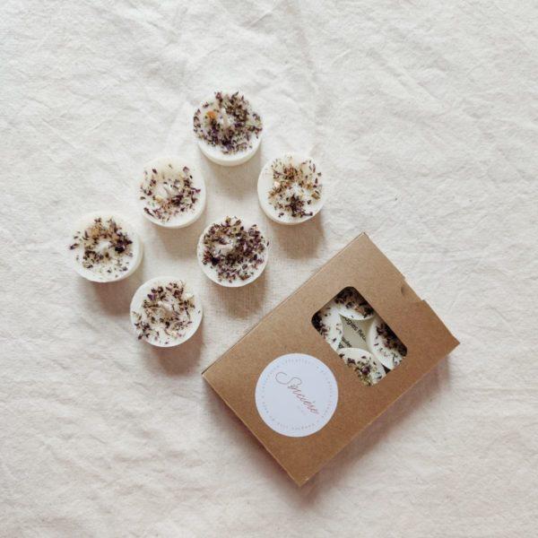 Mini bougies fleuries «Sorcière»