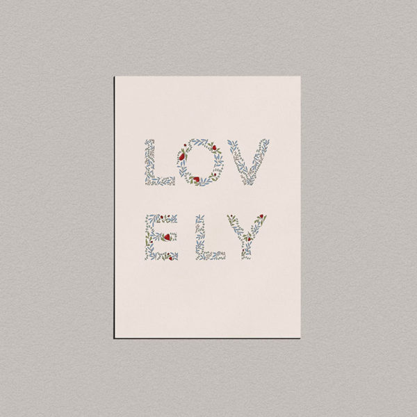 Carte « Lovely »