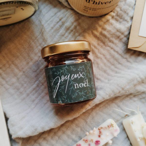 Mini pot de miel «Joyeux noël»