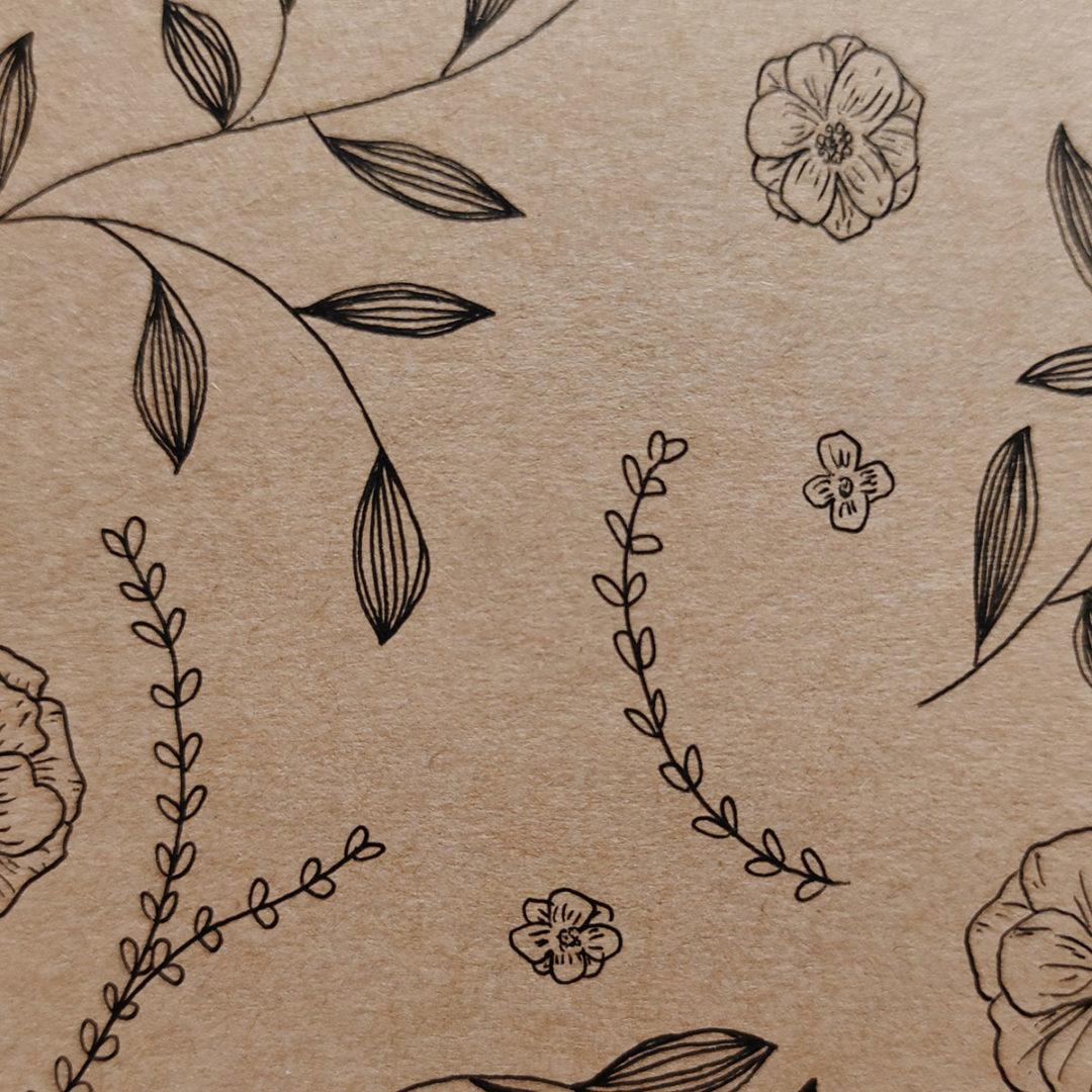 detail-illustration-jardin-sauvage-carnet-kraft