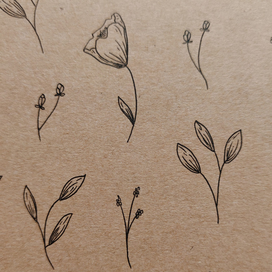 detail-illustration-petites-fleurs-carnet-kraft
