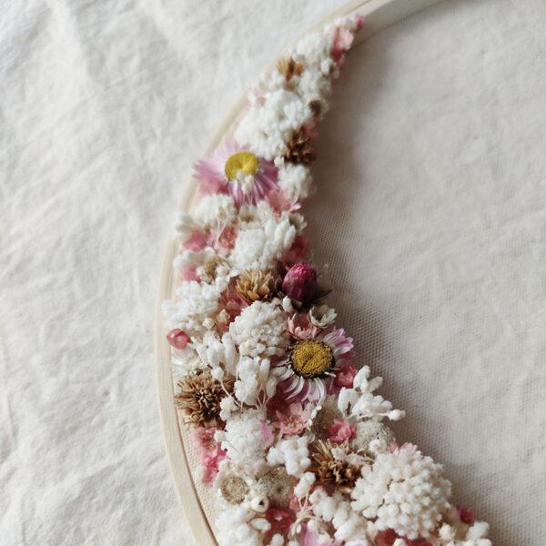 Tambour demie-couronne fleurie Azélie