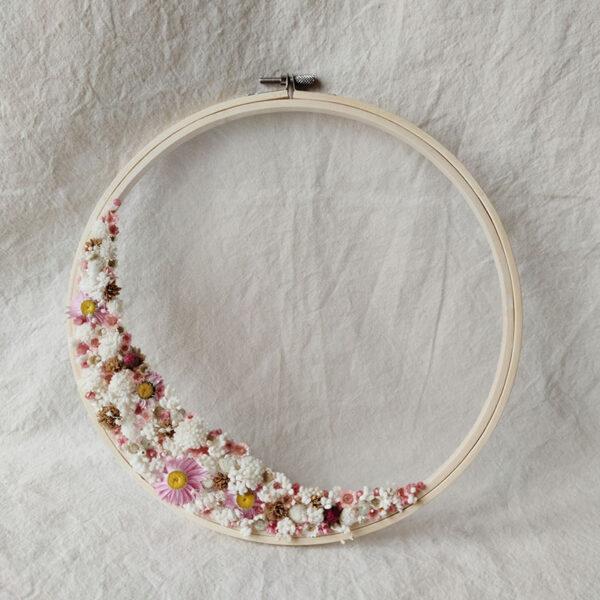 Tambour demie-couronne fleurie : personnalisation