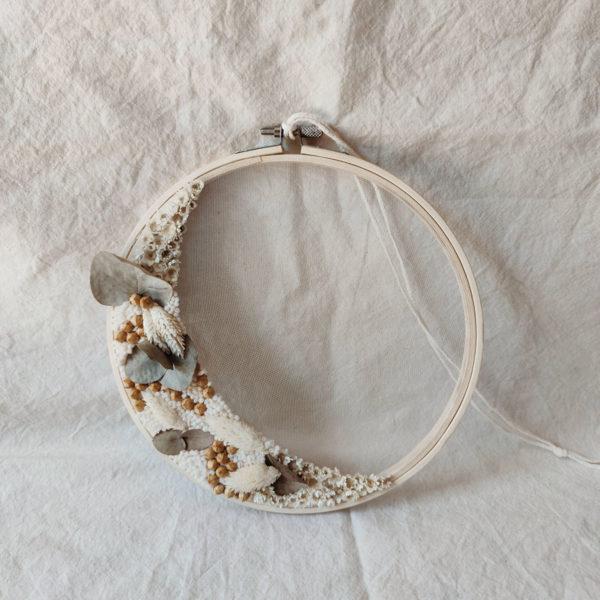 Tambour demie-couronne fleurie Calypso