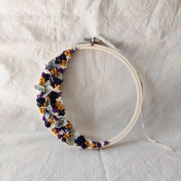 Tambour demie-couronne fleurie Domitille