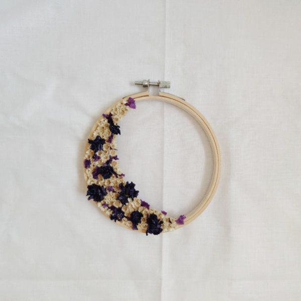 Tambour demie-couronne fleurie Faustine
