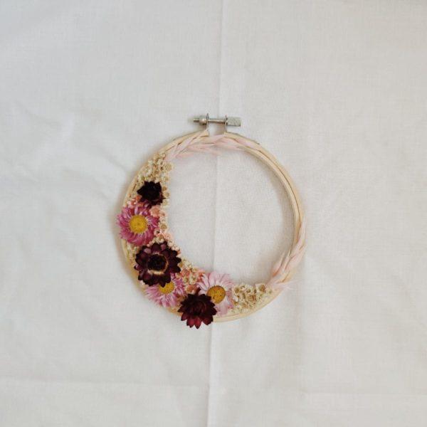 Tambour demie-couronne fleurie Gemma