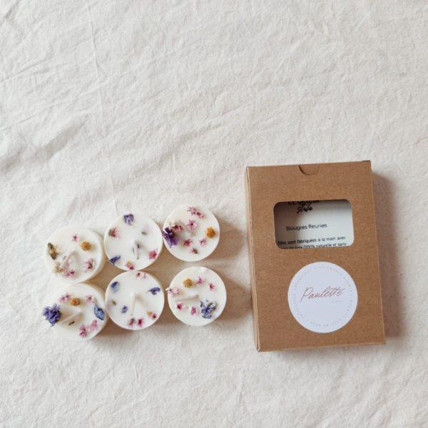 Mini bougies fleuries «Paulette»