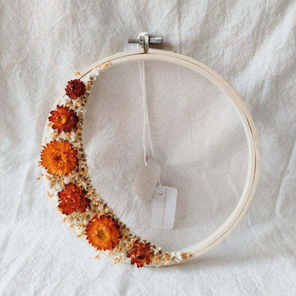 Moyen tambour demie-couronne fleurie Hildegarde
