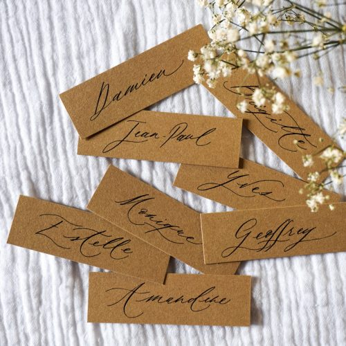 marque place mariage calligraphie